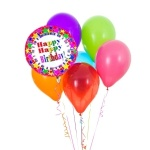 Happy Birthday latex balloon bouquet with 1 foil balloon